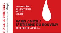 Cycle de conférences « Paris, Nice... Réfléchir après… » 2016-2017