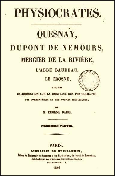 Les auteurs : Quesnay et les physiocrates