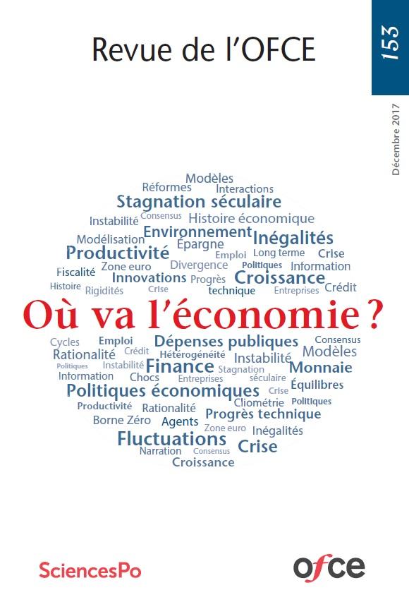 """couverture de la revue de l'OFCE """"où va l'économie ?"""""""