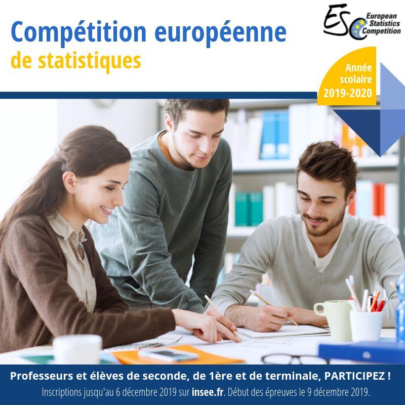 bannière compétition européenne de statistiques 2020
