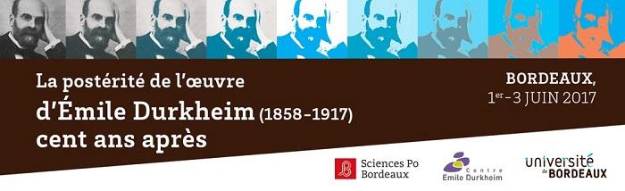 affiche du colloque Durkheim 2017