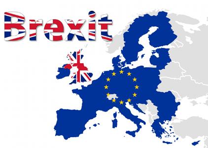 Carte de l'UE et Brexit