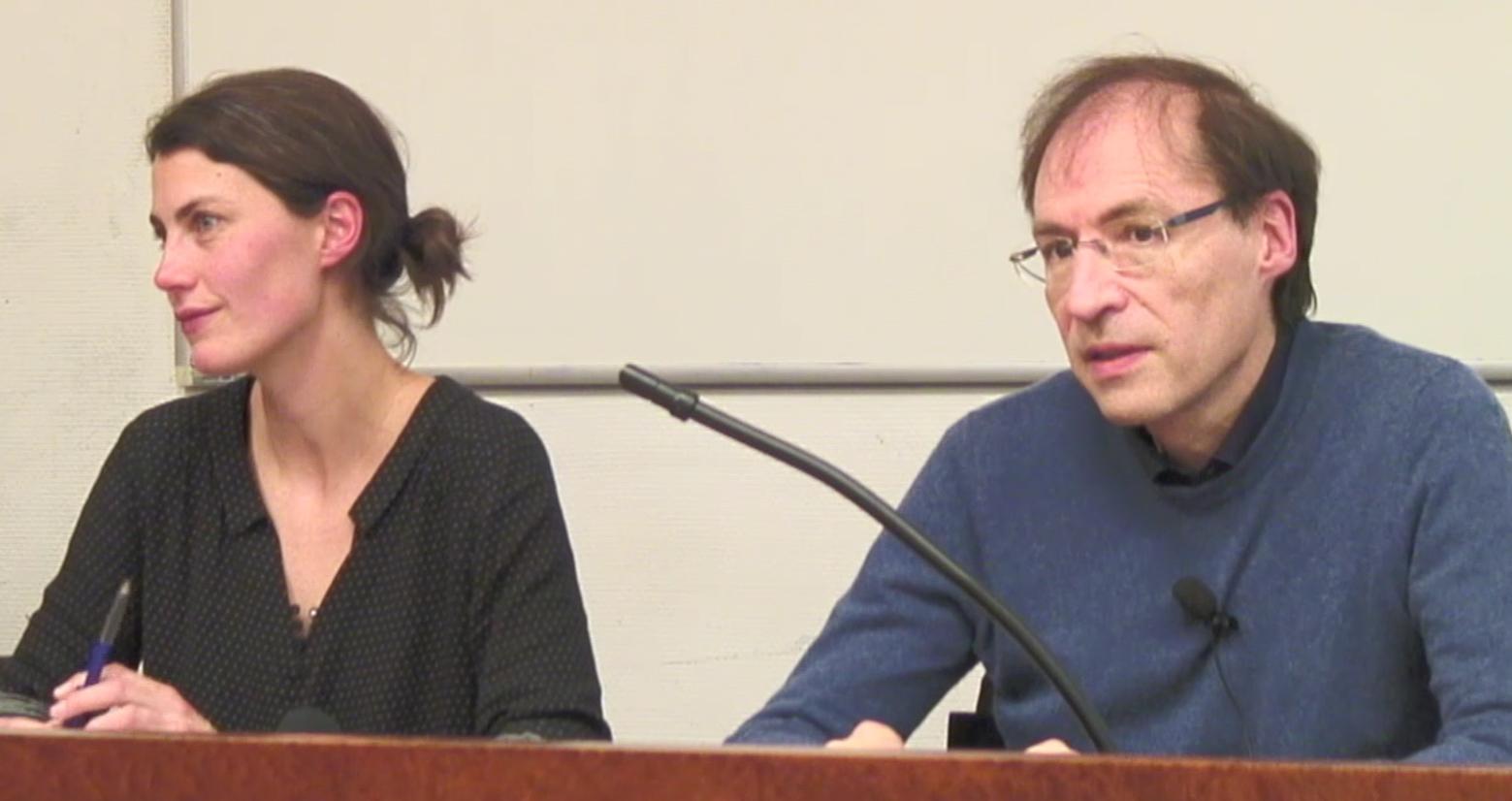 Photo des intervenants lors de la conférence