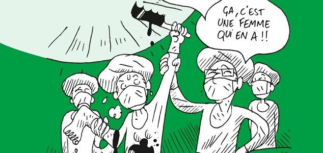 """couverture de la BD """"Sous la blouse"""" d'Emmanuelle Zolesio et Marion Mousse"""